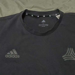 Adidas Black Three Stripe TShirt Men's Sz L
